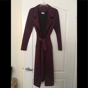 Sueded wine coat 🧥 new!!
